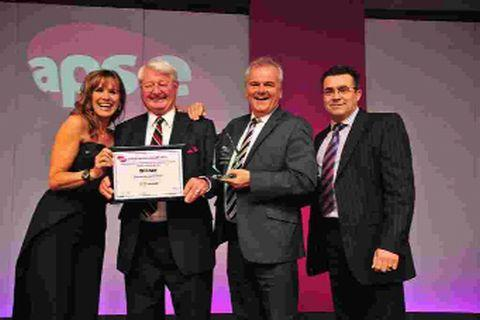 ON THE RIGHT PATH: From left, Carol Smillie, Peter Finney, Andrew Martin and Robert Muir