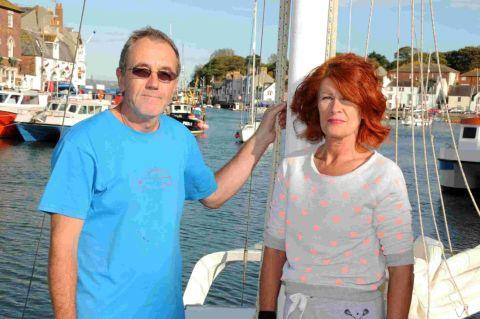 LUCKY PAIR: Dajo catamaran crew Nigel Cresswell and Tina Cook were saved twice in two days