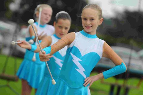 GIVE US A TWIRL: A demonstration by Karizma majorettes