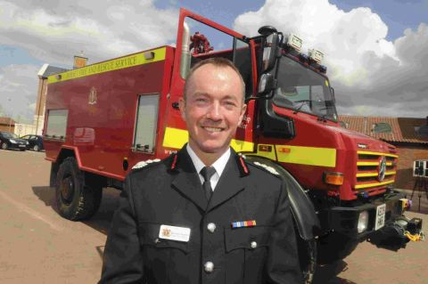 PROUD: Dorset Chief Fire Officer Darran Gunter