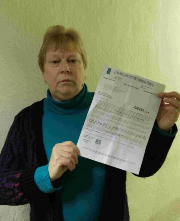 WARNING: Diane Painter warns people about lottery scam letters