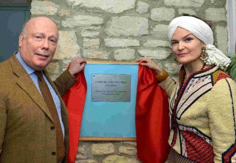 SECOND CHANCE: Lord and Lady Fellowes open the centre