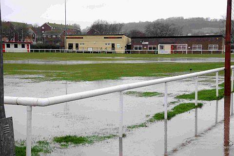 Bridport and Lyme Regis News: THAT SINKING FEELING: A sodden St Mary's Field