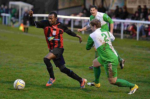 BEES' HERO: Michael Hailu scored twice against Street