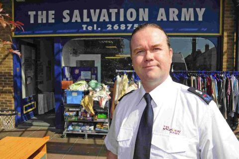 HARD TIMES: Ray Slater of the Salvation Army  has seen a rise in need and a decrease in donations