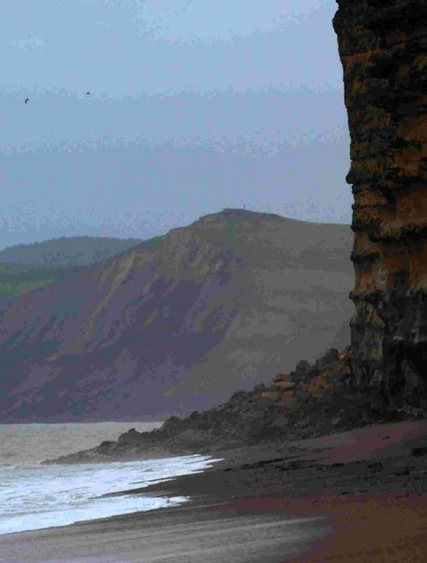 ROCKFALL: Latest landslide at Burton Bradstock