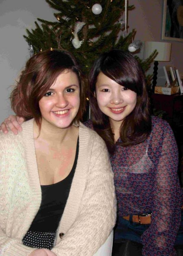 CLOSE FRIENDS: Phoebe Taylor with her Japanese exchange partner Chiharu