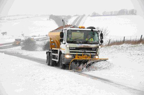 WHITEOUT: Snow hits A35 near Bridport