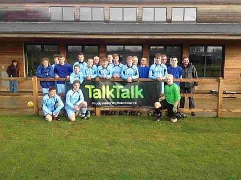 MAJOR BOOST: Beaminster FC have been sponsored by TalkTalk