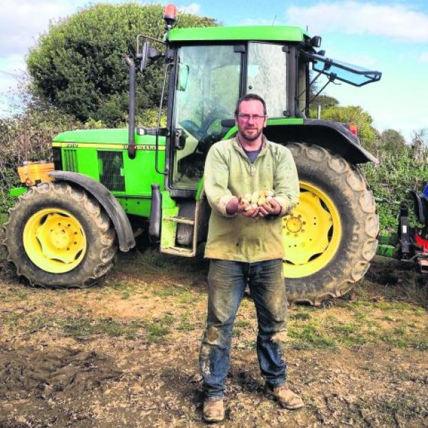 THE HEAT IS ON: Garlic farmer Mark Botwright