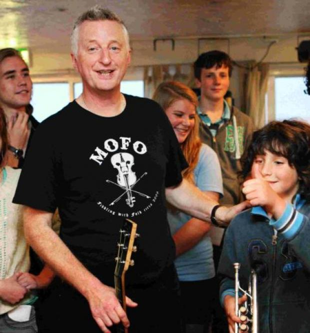 OUTSTANDING WORK: Billy Bragg talks to Toby Corren as he works with B Sharp