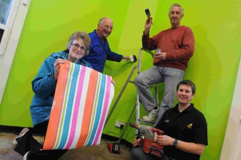 Volunteers have given Charmouth Library a bright new look