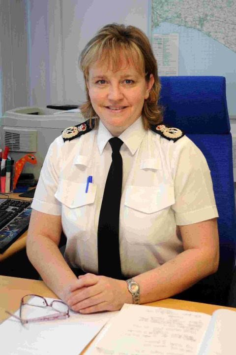 LOOKING FORWARD: Dorset's Chief Constable Debbie Simpson