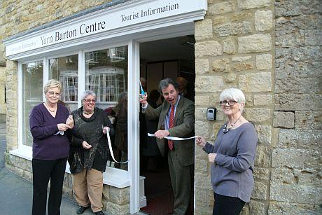 West Dorset MP Oliver Letwin re-opens the Yarn Barton Centre in Beaminster