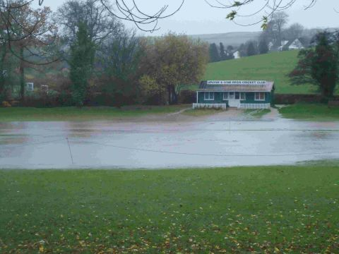DELUGE: Flooding at Uplyme and Lyme Regis Cricket Club
