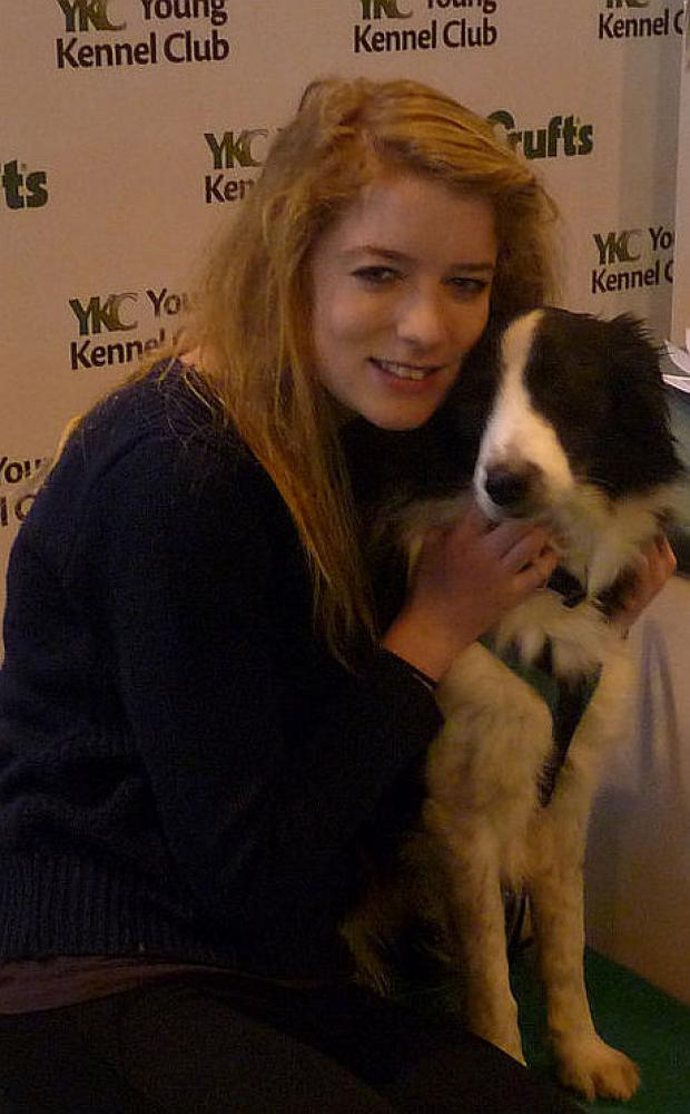 Isobel Buchanan and her dog Mollie at Crufts