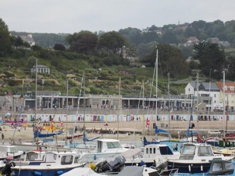 The Marine Parade Shelters in Lyme Regis