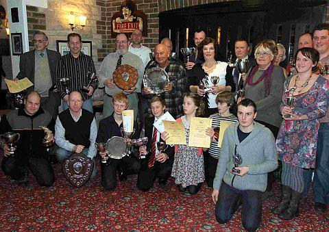 ACE ANGLERS: The trophy winners at West Bay SAC's annual presentation dinner