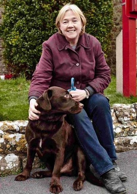 Pauline Quirke and Bailey, her labrador