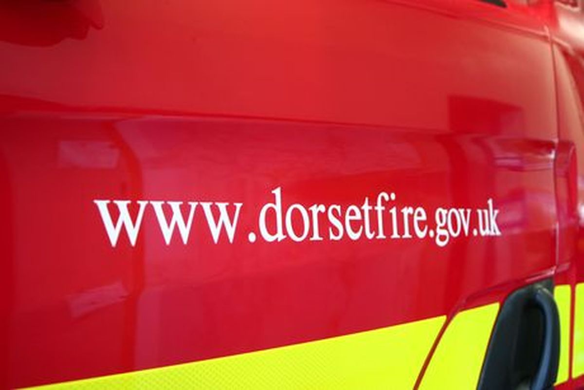 Fire crews from Bridport put out hay fire