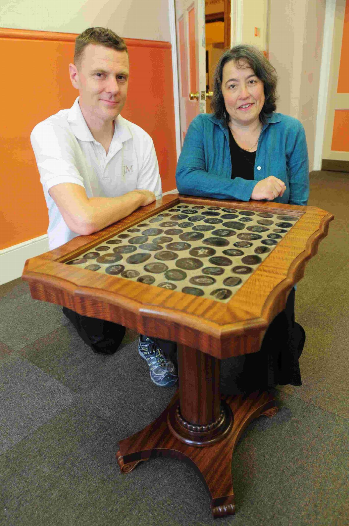 WELL DUNG: Jonathan Matthews and Kate Hebditch