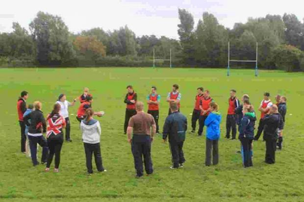 COACHING COURSE: Going through the technical points at Bridport RFC