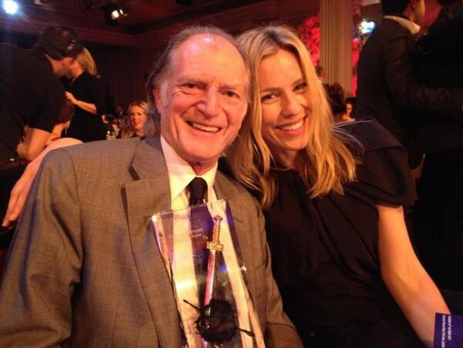 David Bradley and Simone McCaullay celebrate at the awards ceremony. Picture by Chris Chibnall