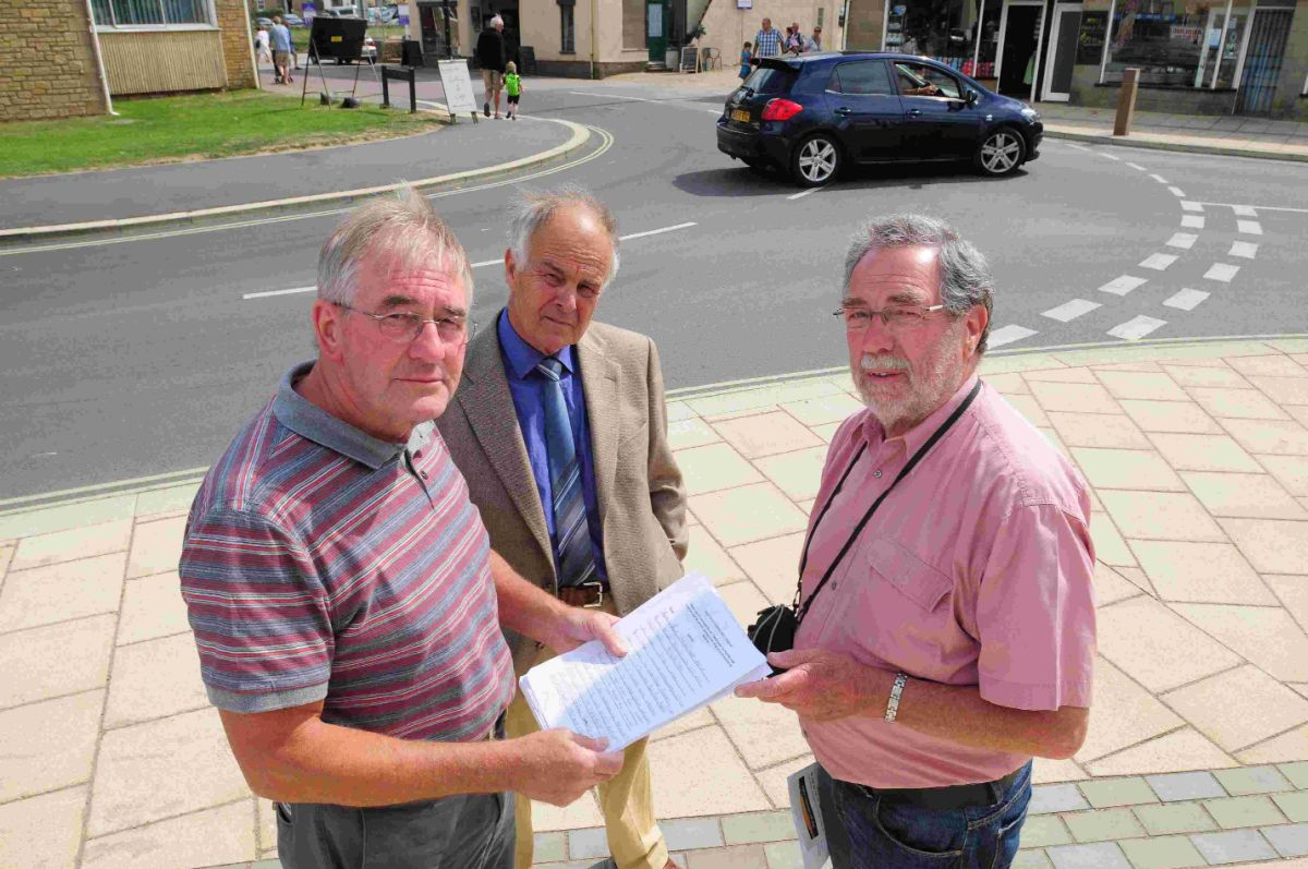 Petitioners: From the left, Michael Nicks, Malcolm Layton and Chris Cherry