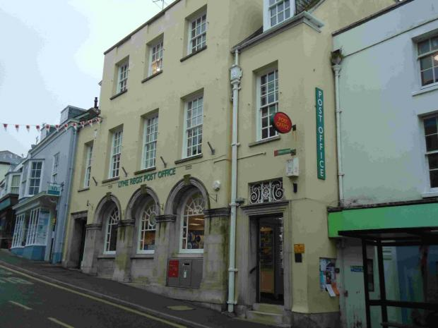 UNCERTAIN FUTURE: Lyme Regis Post Office will remain open in the shor to medium term, unless a new sub-postmaster can be found