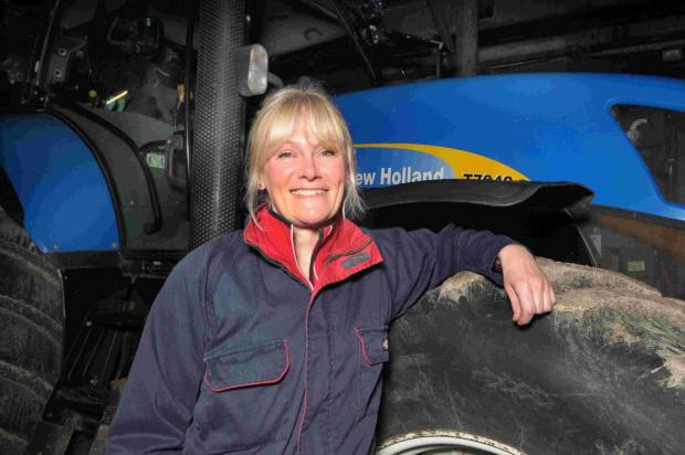 THAT'S OUR GIRL: Littlebredy farmer Judi James has been  shortlisted for Britain's sexiest farmer award