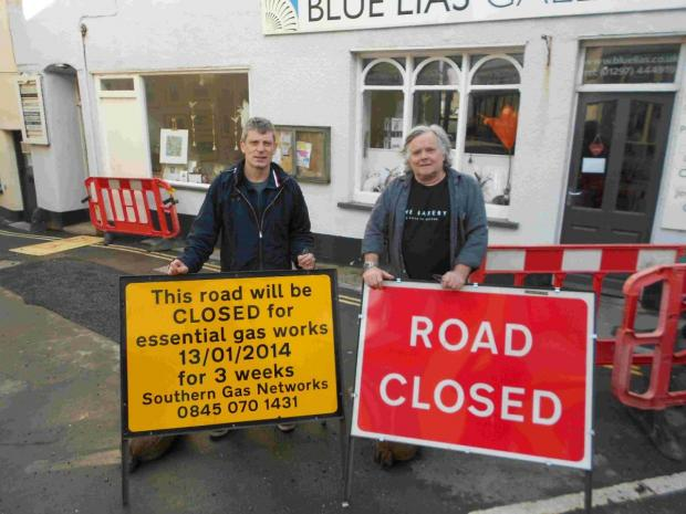 Bridport and Lyme Regis News: FURIOUS: Mark Evans, left, of Tierra Kitchen, and Clive Cobb, right, of Town Mill Bakery