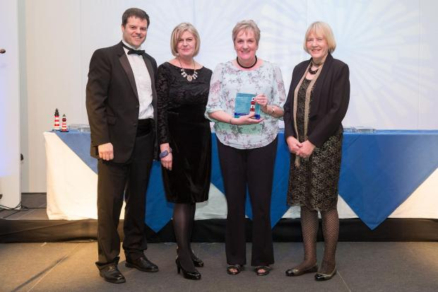 The team from Highlands End Holiday Park pick up their award