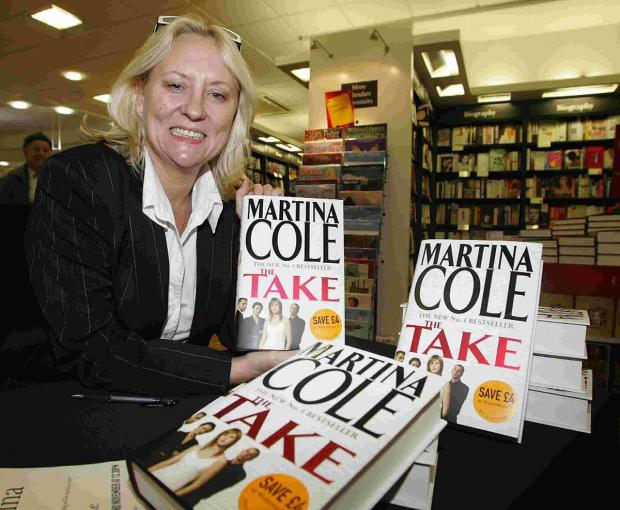 Bridport and Lyme Regis News: APPEAL: Bestselling author Martina Cole with her book The Take