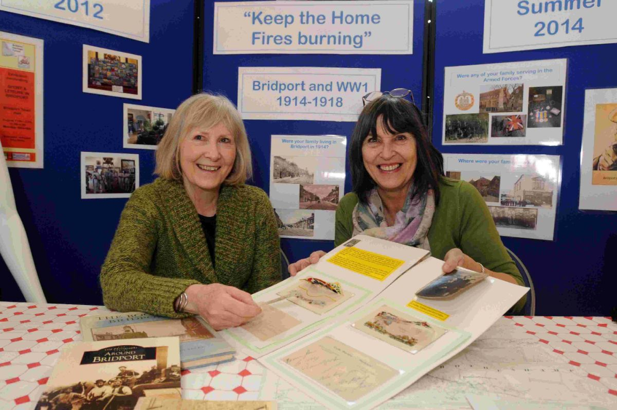 A LOT GOING ON: Bridport Heritage forum members Muriel Finucane and Sheila Meaney, right, with memories from WW1 for a new exhibition