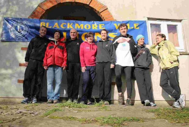 LET'S GET THE B SERIES STARTED: The Bridport Runners after finishing the Blackmore Vale Half Marathon