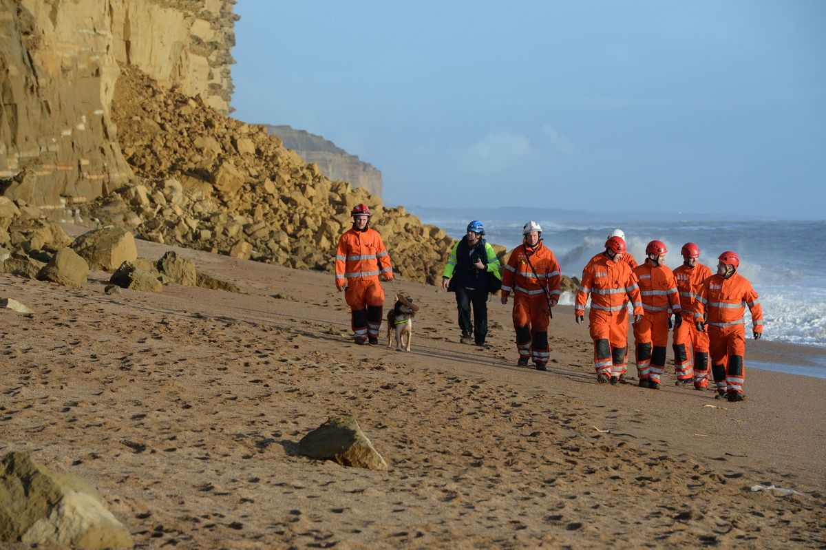 UPDATED WITH VIDEO: Stay away from cliffs, public urged after massive landslip on West Dorset coast
