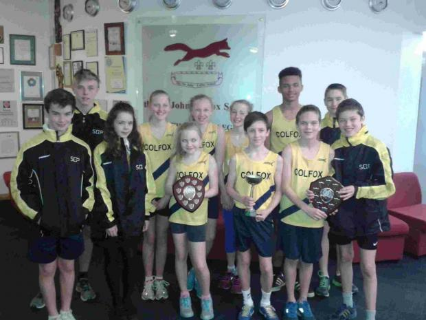 TALENTED TEAM: Cross country runners from Colfox School