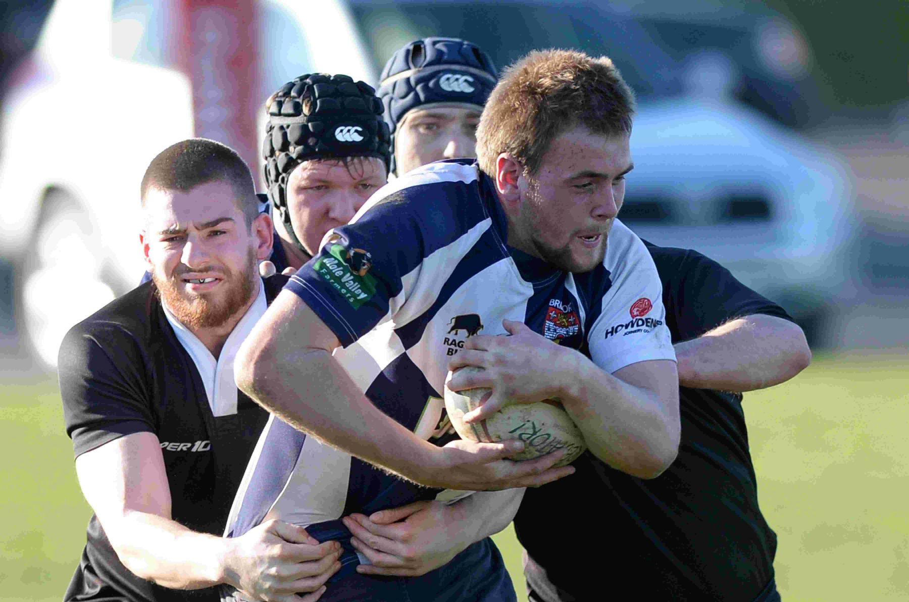 HOLDING ON: Bridport's Darragh McCloghlin