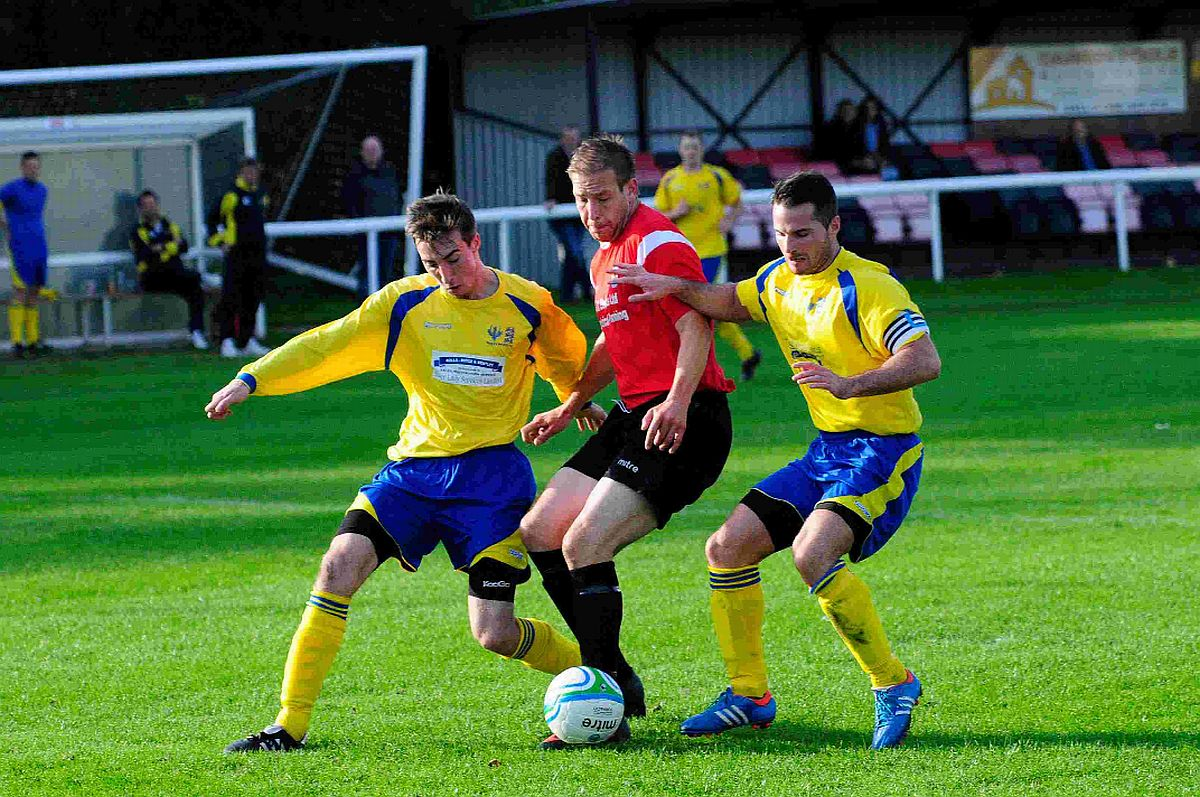 HAT-TRICK: Ben Clarke bagged a treble at Hamworthy on Monday