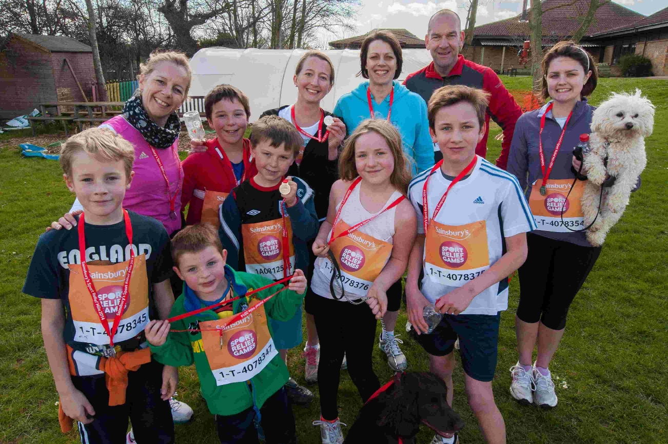 Miles of smiles for young Sport Relief runners