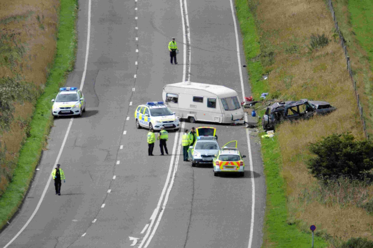 Accidental death verdict for woman in caravan crash on A35