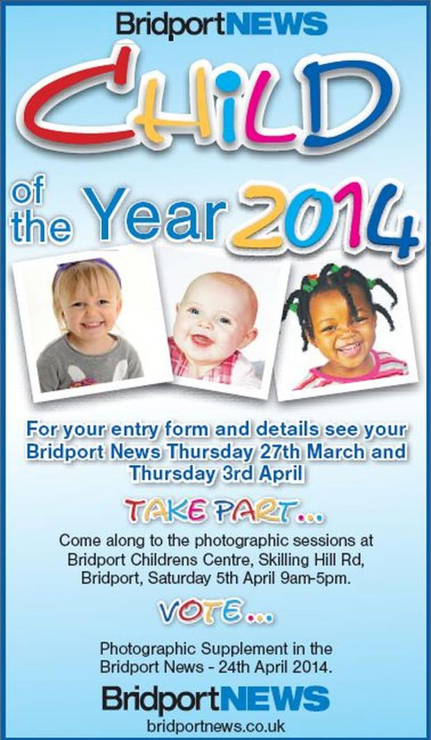 Bridport and Lyme Regis News: The Bridport and Lyme Regis News Child of the Year competition is coming up!