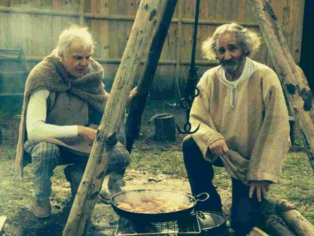 Richard McNeal and Alan Vian as ancient Britons