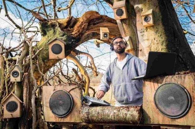 beatboxer: Jason Singh has vocally recreated the nation's best-known songbirds as part of the National Trust's campaign to celebrate the sounds of spring