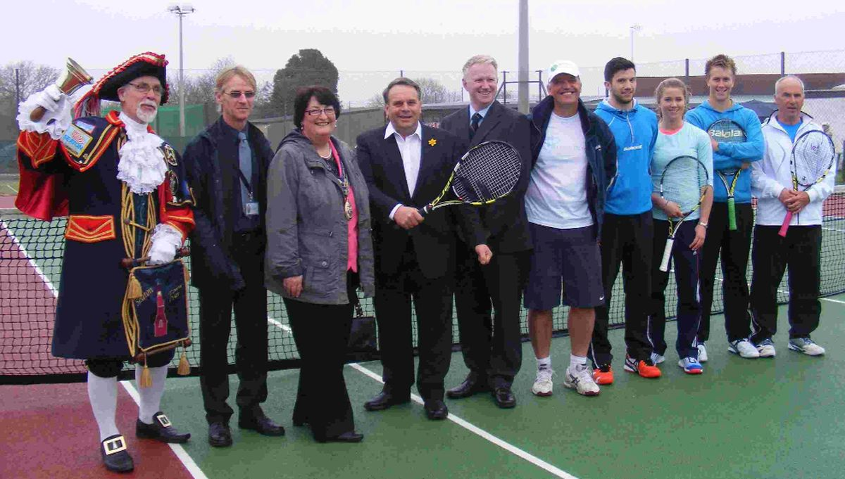 ACE EVENT: Members and guests of Seaton Tennis Club at their open day