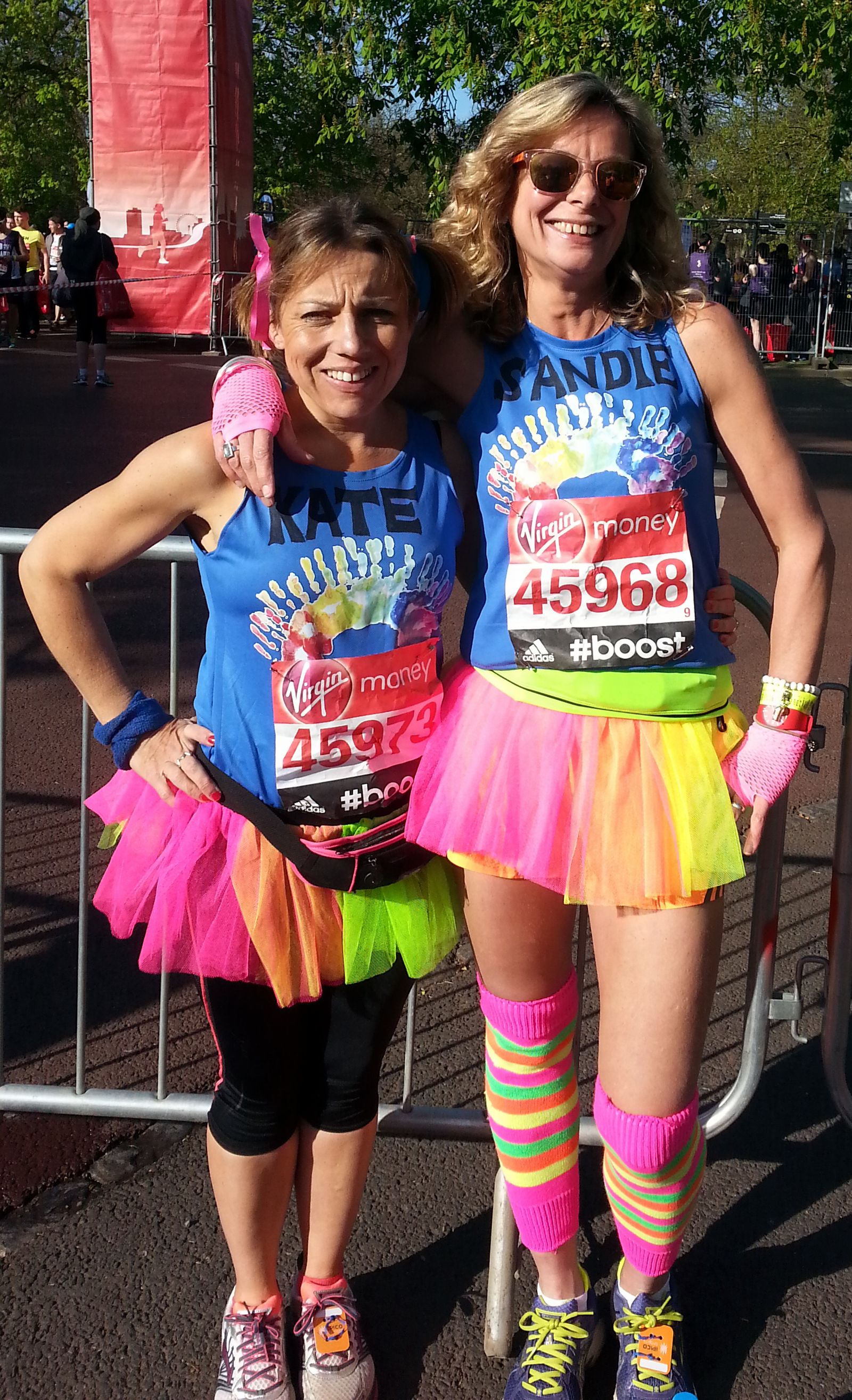 Kate Smith and Sandie Burton run for Rainbow