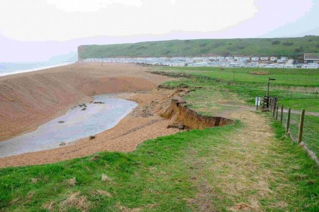 Bridport and Lyme Regis News: Erosion of the coast path at Freshwater