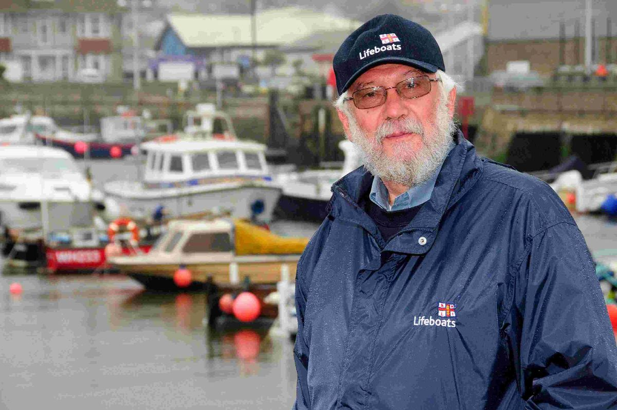IN CHARGE: Martin Newbury, the new chairman of Bridport RNLI, at West Bay harbour