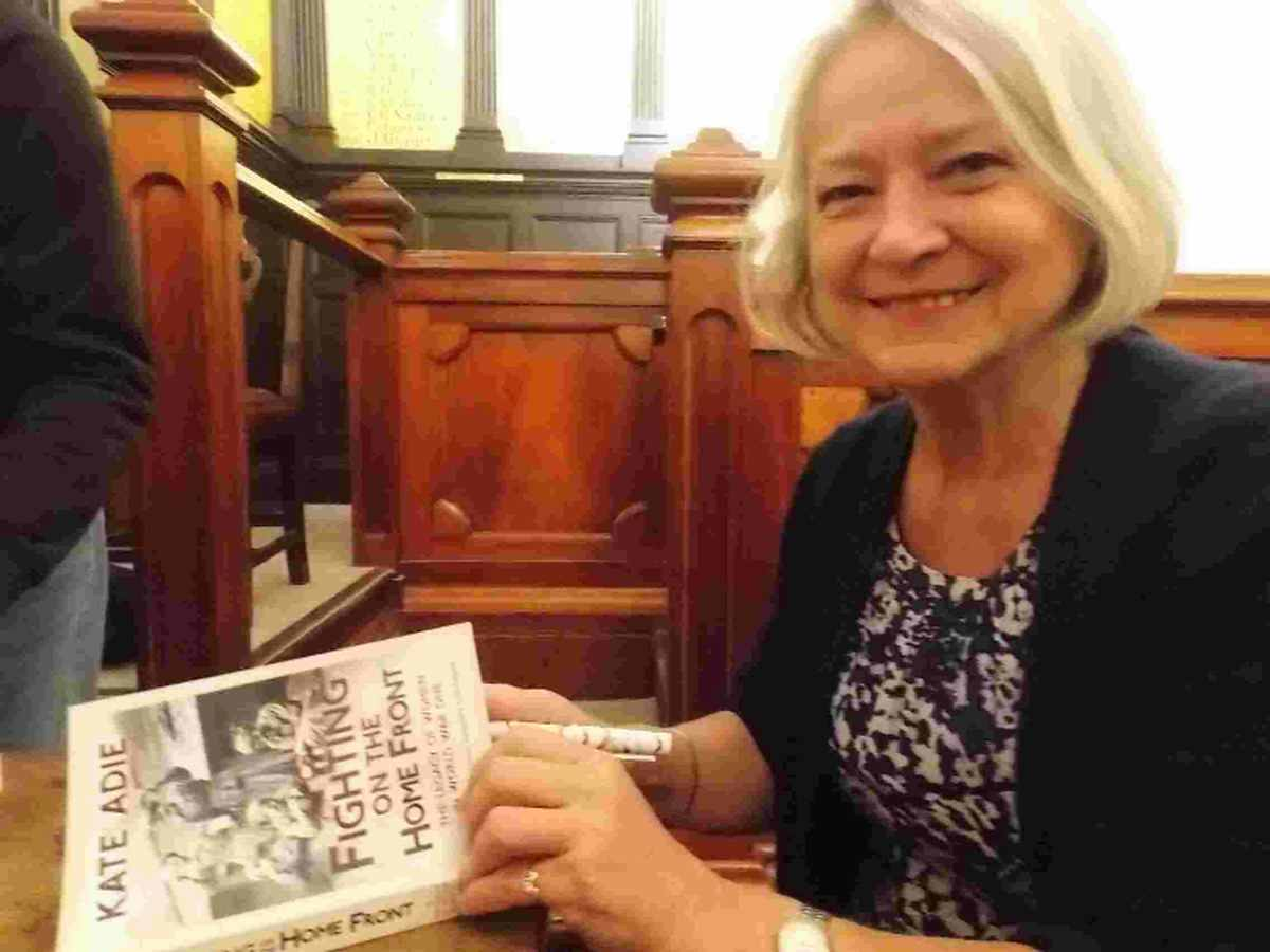 PRAISE: Kate Adie at Bridport Town Hall with her new book on women in the First World War