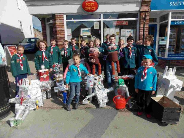 Bridport and Lyme Regis News: GREAT CREATIONS: Charmouth Scouts with their wonderful robots